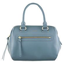 Buy Radley Whitechapel Leather Grab Bag, Blue Online at johnlewis.com