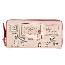 Buy Radley Exhibition Road Large Leather Matinee Purse, Natural Online at johnlewis.com
