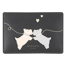 Buy Radley Puppy Love Travel Card Holder, Black Online at johnlewis.com