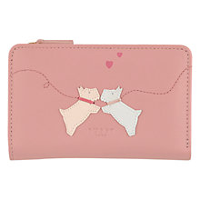 Buy Radley Puppy Love Medium Leather Purse, Light Rose Online at johnlewis.com