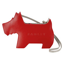 Buy Radley Leather Medium Shoulder Bag, Red Online at johnlewis.com