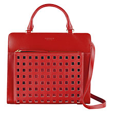 Buy Radley Clerkenwell Medium Multiway Leather Bag, Red Online at johnlewis.com