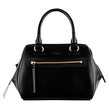 Buy Radley Whitechapel Leather Zip Top Grab Bag, Black Online at johnlewis.com