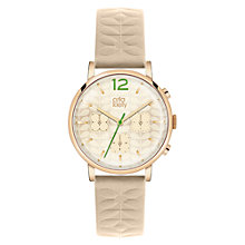 Buy Orla Kiely Women's Floral Chronograph Leather Strap Watch Online at johnlewis.com