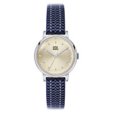 Buy Orla Kiely Women's Stem Print Strap Leather Strap Watch Online at johnlewis.com