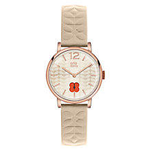 Buy Orla Kiely Women's Floral Stamp Dial Leather Strap Watch Online at johnlewis.com