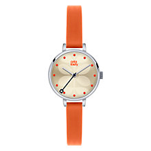 Buy Orla Kiely Women's Mini Slim Strap Leather Strap Watch Online at johnlewis.com