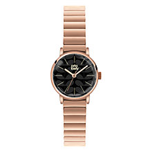 Buy Orla Kiely OK4012 Women's Small Case Bracelet Strap Watch, Rose Gold/Black Online at johnlewis.com