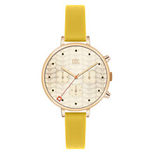 Buy Orla Kiely Women's Slim Strap Chrono Leather Strap Watch Online at johnlewis.com