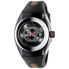 Buy Gucci YA137301 Men's Sync Rubber Strap Watch, Black Online at johnlewis.com