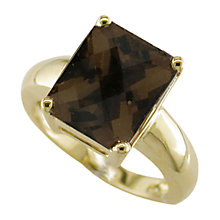 Buy London Road Square 9ct Yellow Gold Bloomsbury Ring, Gold Online at johnlewis.com
