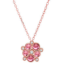 Buy London Road 9ct Rose Gold Diamond Tourmaline Pimlico Bubble Pendant, Rose Gold Online at johnlewis.com