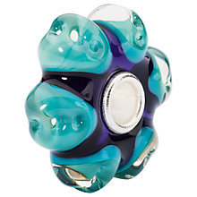 Buy Trollbeads Sterling Silver Dream Away Charm, Turquoise/Indigo Online at johnlewis.com