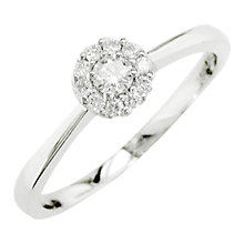 Buy London Road 18ct White Gold Diamond Cluster Ring, White Gold Online at johnlewis.com