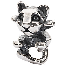 Buy Trollbeads Curious Kitten Bead Charm, Silver Online at johnlewis.com
