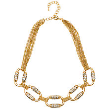 Buy Adele Marie Gold Plated Diamante Fine Multi Row Necklace, Gold Online at johnlewis.com