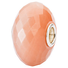 Buy Trollbeads Sterling Silver Feldspar Moonstone Bead Charm, Peach Online at johnlewis.com