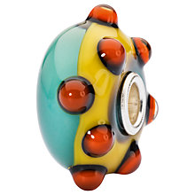Buy Trollbeads Sterling Silver Hopeful Poppies Charm, Yellow/Multi Online at johnlewis.com