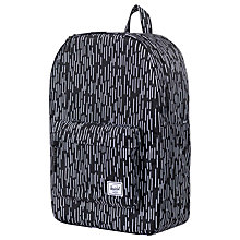 Buy Herschel Supply Co. Classic Backpack, Black/White Online at johnlewis.com