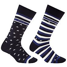 Buy Gant Stripes & Star Sock Box, Pack of 2, One size Online at johnlewis.com