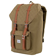 Buy Herschel Supply Co. Little America Quilted Backpack, Green Online at johnlewis.com