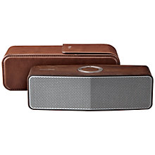 Buy LG Music Flow P7 Portable Bluetooth Speaker With Leather Carrying Case, Oak Online at johnlewis.com