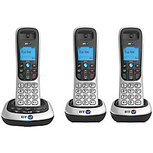 Buy BT 2600 Digital Cordless Phone with Answering Machine, Trio DECT Online at johnlewis.com
