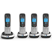 Buy BT 2600 Digital Cordless Phone with Answering Machine, Quad DECT Online at johnlewis.com