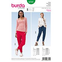 Buy Burda Women's Trousers Sewing Pattern, 6725 Online at johnlewis.com