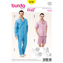 Buy Burda Men's Sleepwear Sewing Pattern, 6741 Online at johnlewis.com