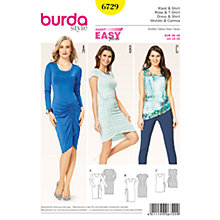 Buy Burda Women's Dress And Top Sewing Pattern, 6729 Online at johnlewis.com