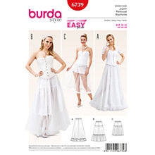 Buy Burda Women's Petticoat Sewing Pattern, 6739 Online at johnlewis.com