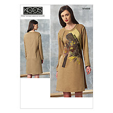 Buy Vogue Women's Koos Couture Dress Sewing Pattern, 1459 Online at johnlewis.com