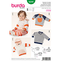 Buy Burda Baby's Sweater Sewing Pattern, 9399 Online at johnlewis.com