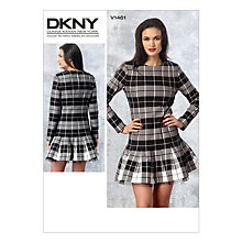 Buy Vogue Women's DKNY Dress Sewing Pattern, 1461 Online at johnlewis.com