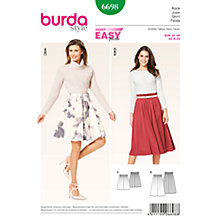 Buy Burda Women's Skirt Sewing Pattern, 6698 Online at johnlewis.com