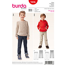 Buy Burda Children's Jeans Sewing Pattern, 9406 Online at johnlewis.com