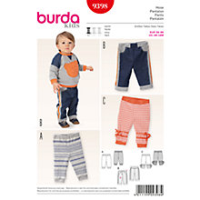 Buy Burda Baby's Trousers Sewing Pattern, 9398 Online at johnlewis.com