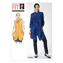 Buy Vogue Women's Tunic Sewing Pattern, 1456 Online at johnlewis.com