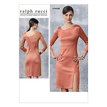 Buy Vogue Women's Ralph Rucci Dress Sewing Pattern, 1458 Online at johnlewis.com
