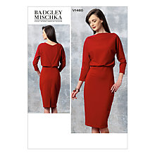 Buy Vogue Women's Badgley Mischka Dress Sewing Pattern, 1460 Online at johnlewis.com