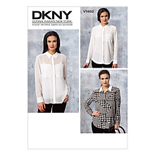 Buy Vogue Women's DKNY Shirt Sewing Pattern, 1462 Online at johnlewis.com