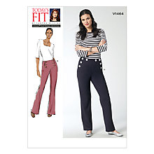 Buy Vogue Women's Trousers Sewing Pattern, 1464 Online at johnlewis.com
