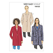 Buy Vogue Women's Jacket Sewing Pattern, 9133 Online at johnlewis.com