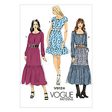 Buy Vogue Women's Dresses Sewing Pattern, 9124 Online at johnlewis.com