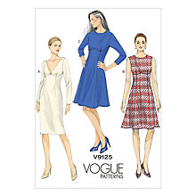 Buy Vogue Women's Dress Sewing Pattern, 9125 Online at johnlewis.com