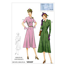 Buy Vogue Women's Dress Sewing Pattern, 9127 Online at johnlewis.com