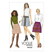 Buy Vogue Women's Skirt Sewing Pattern, 9132 Online at johnlewis.com