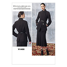 Buy Vogue Women's Jacket And Skirt Sewing Pattern, 1466 Online at johnlewis.com