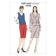 Buy Vogue Women's Very Easy Jacket & Skirt Sewing Pattern, 9138 Online at johnlewis.com